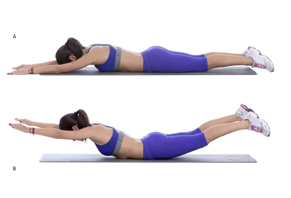 Superman Core Exercise for women