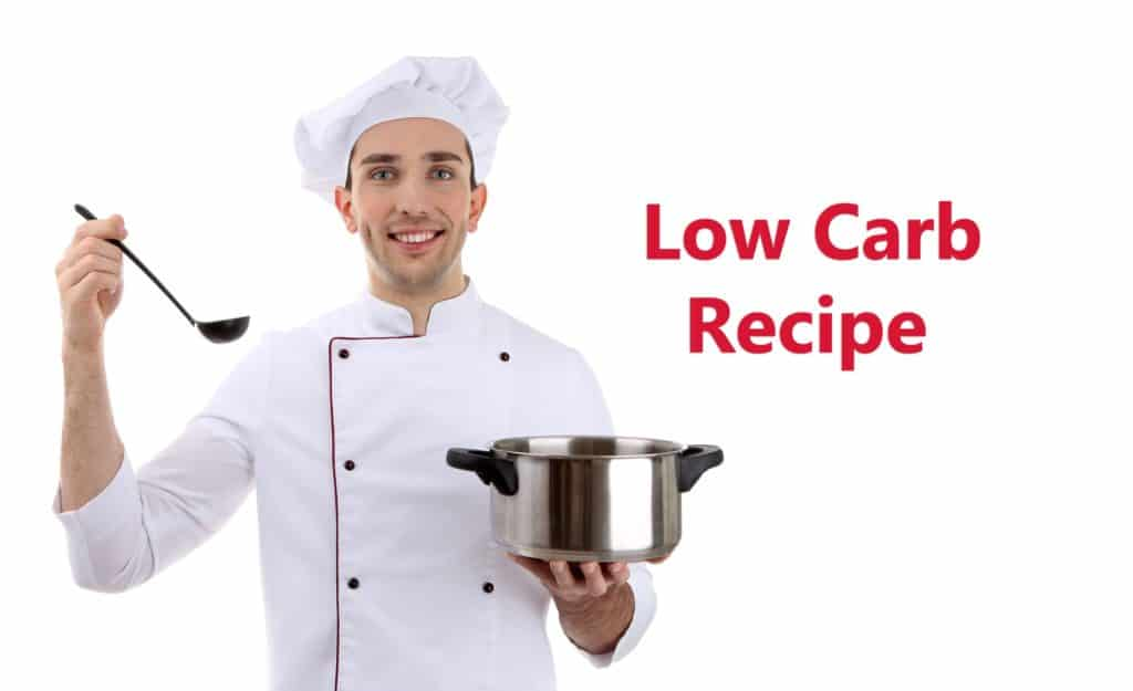 Chef Holding ladle and saucepan