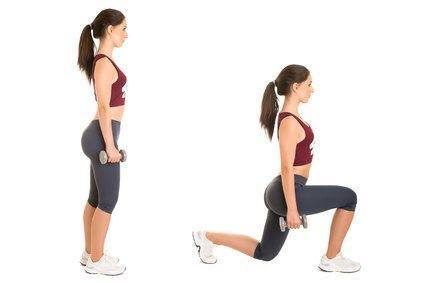 Exercises for butt:Lunges