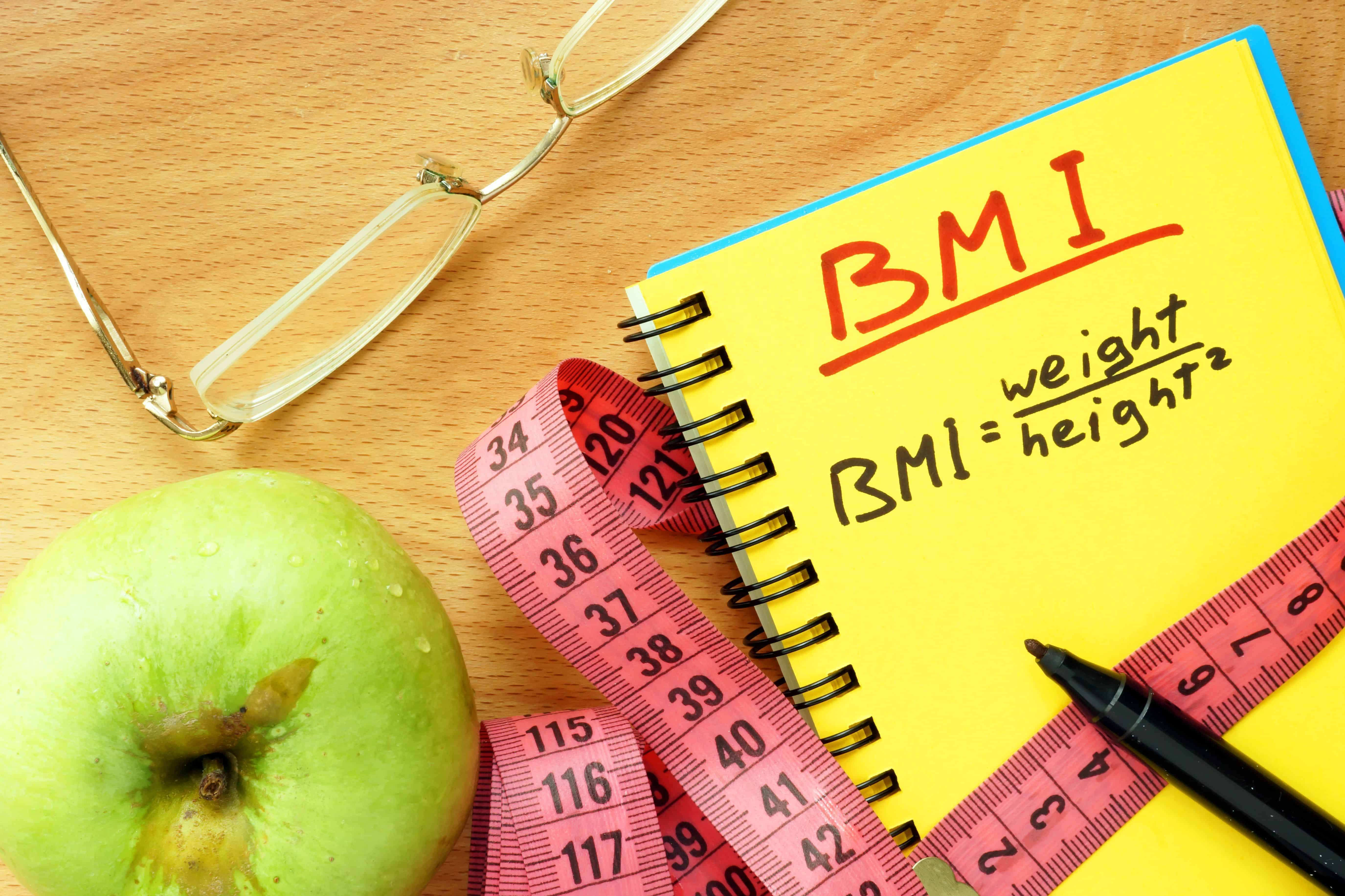 What information is needed to calculate the BMI for a female?