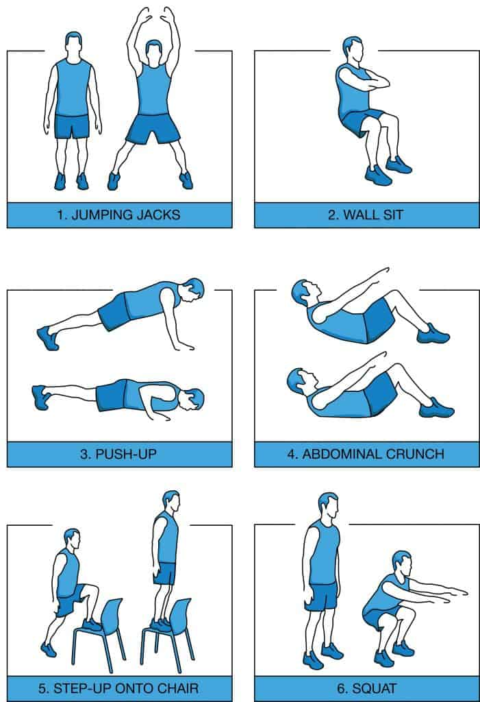 7 minute workout routine