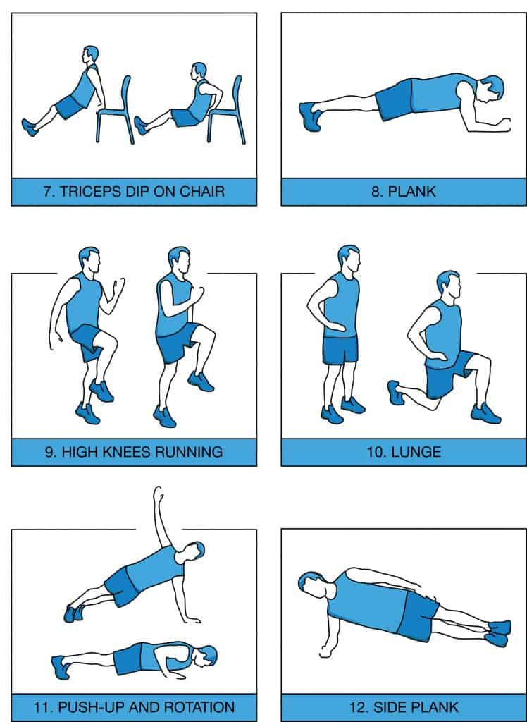 7 minute workout excercises