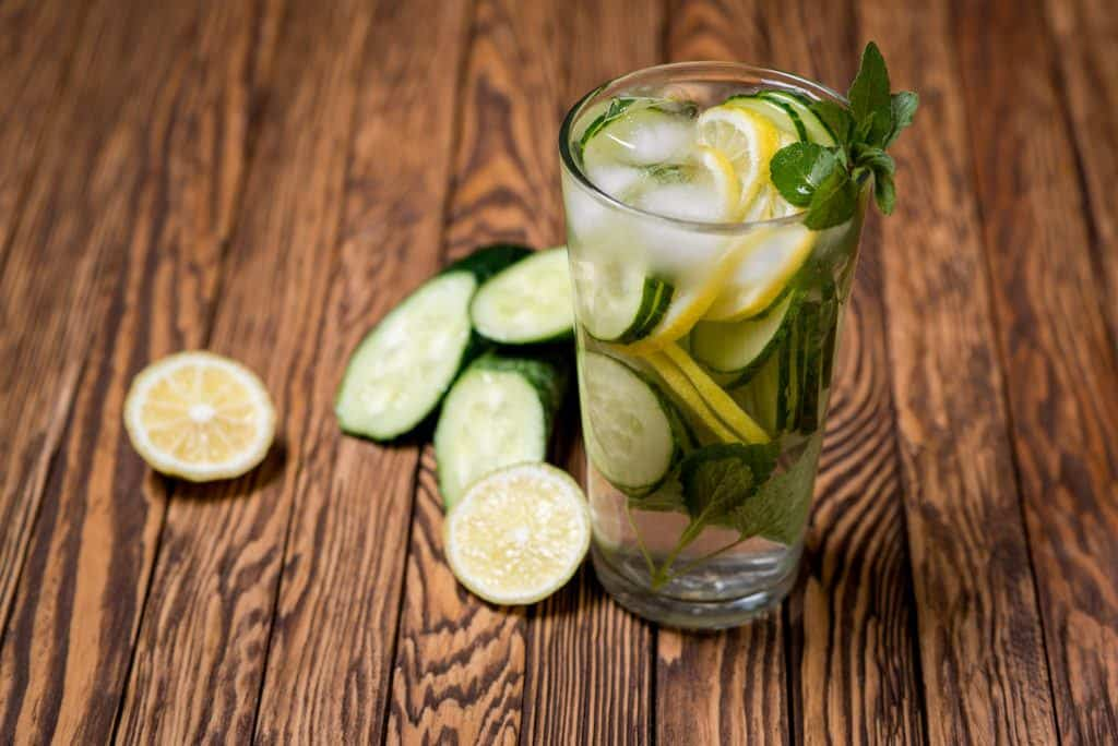 homemade detox drinks:Lemon,cucumber,black pepper and cumin