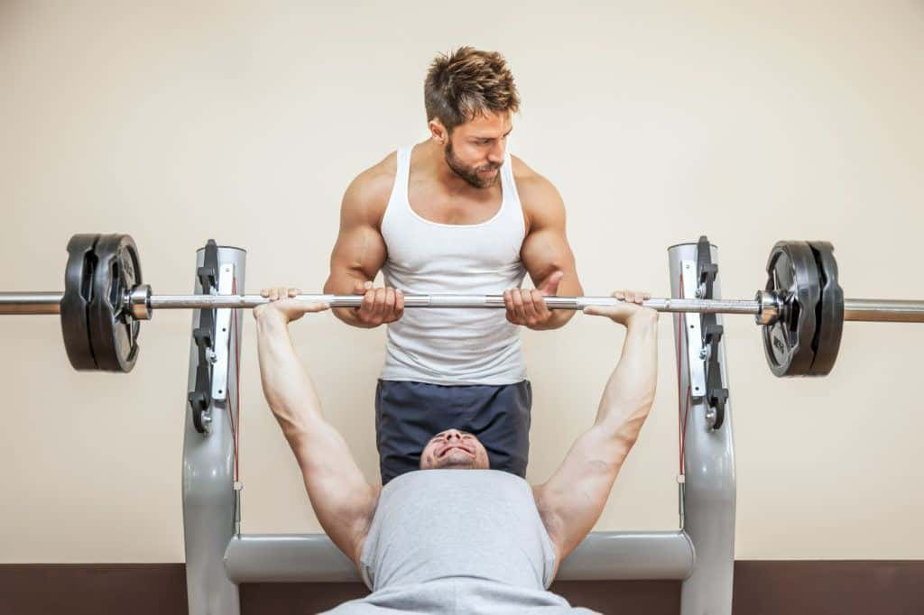 Barbell exercises:bench press