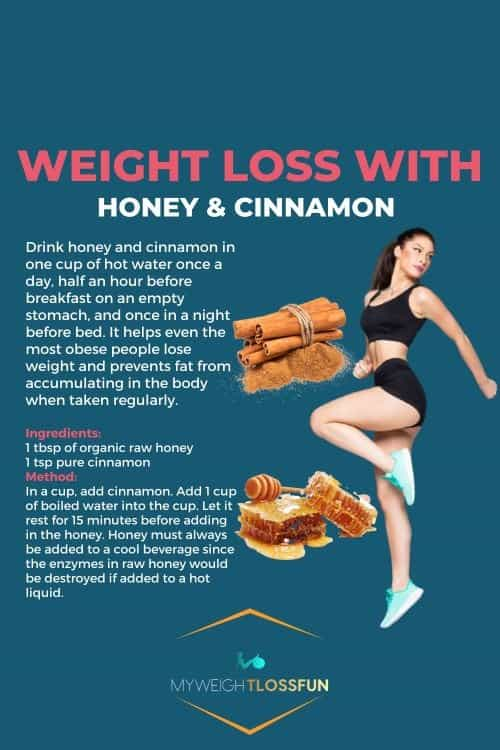 Home Remedies For Weight Loss:Cinnamon and honey mixture