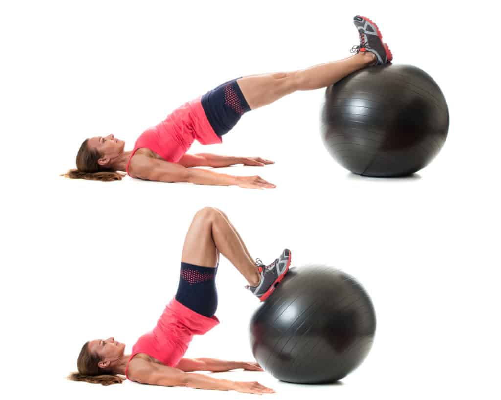stability ball:Hamstring Curl