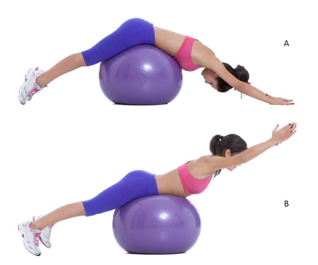 stability ball:back extension