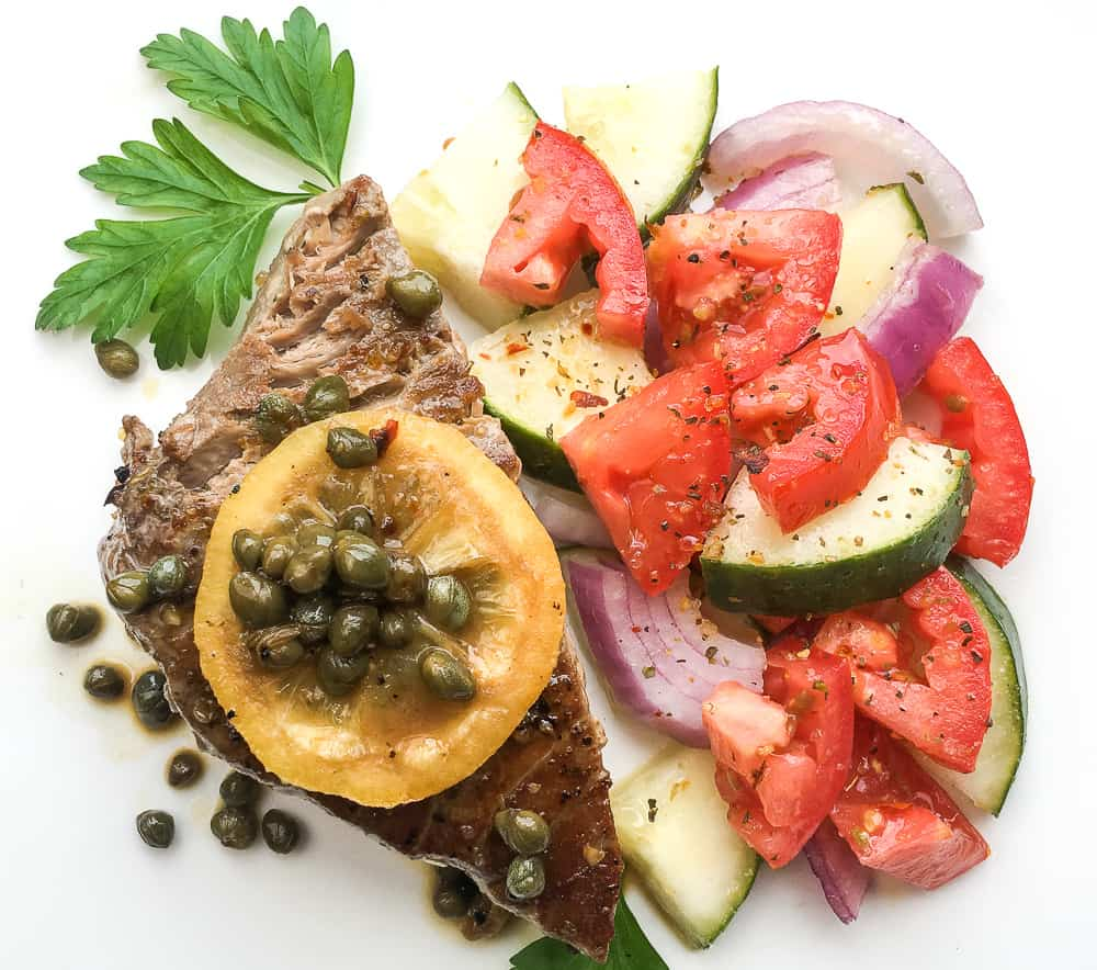 Pan Seared Tuna Steaks Recipe
