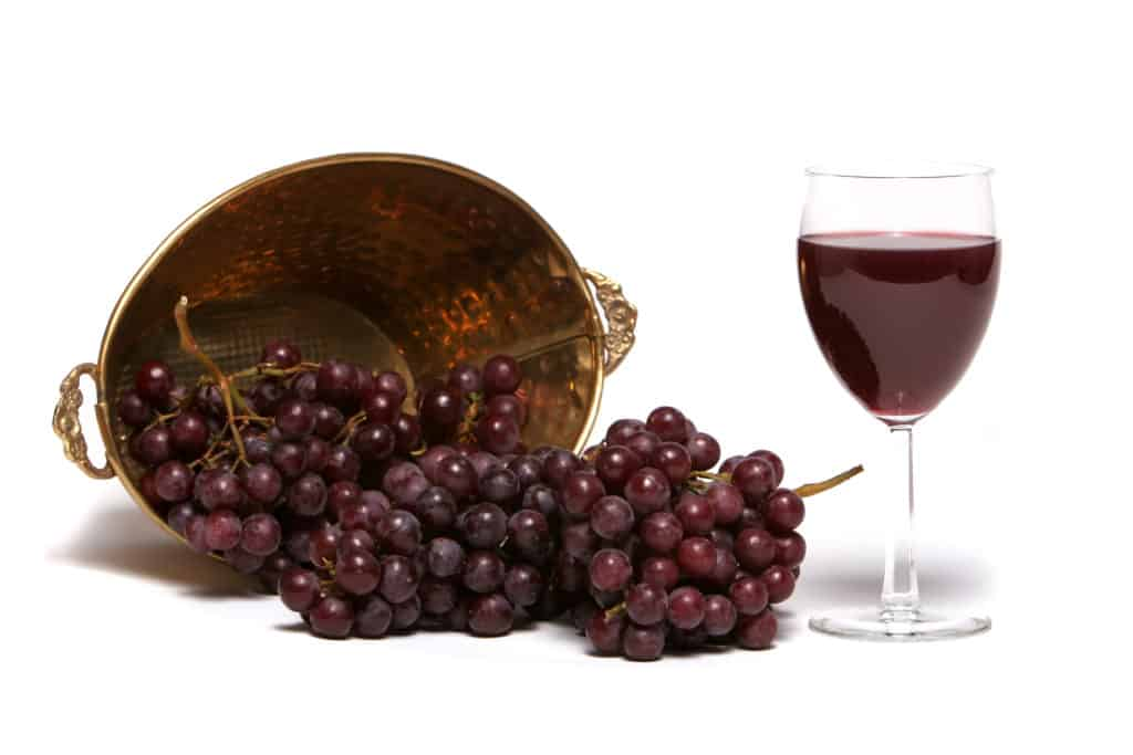 functional food products:red wine and grapes