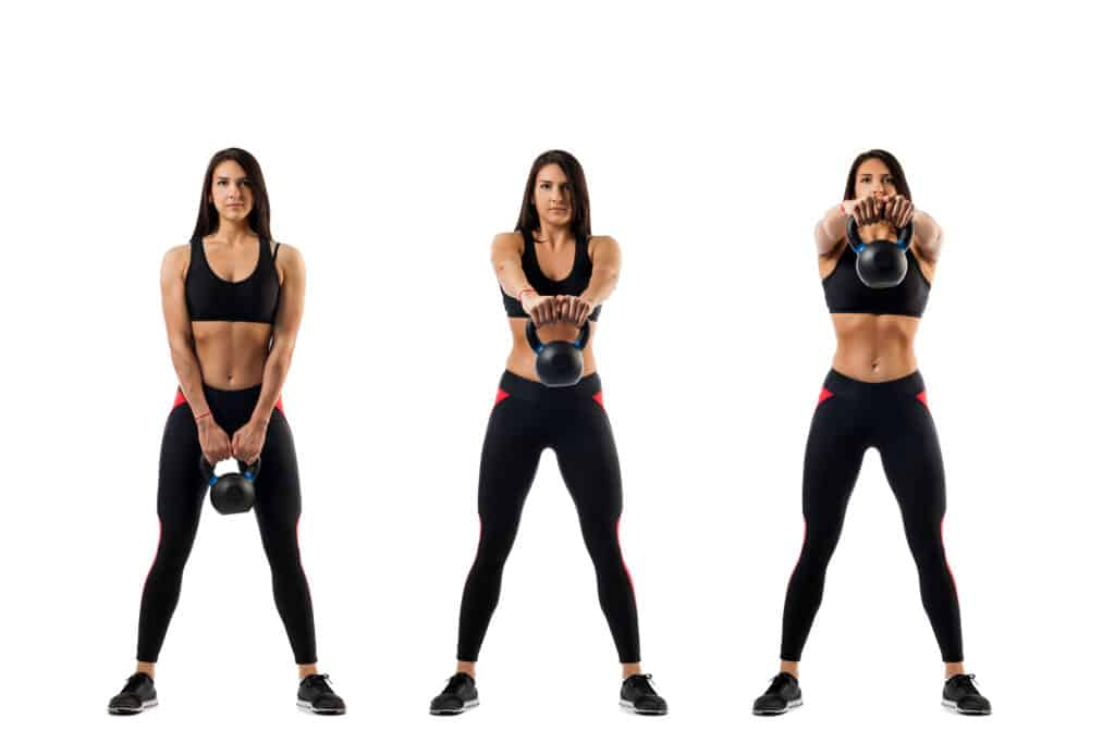 Crossfit workouts for beginners:Kettlebell swings
