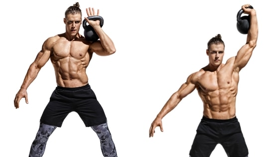 Kettlebell Workout routine:One arm kettlebell press