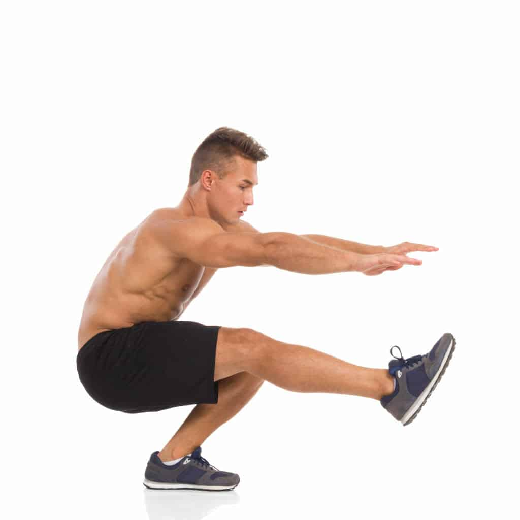 Functional fitness exercises:one-legged squat.