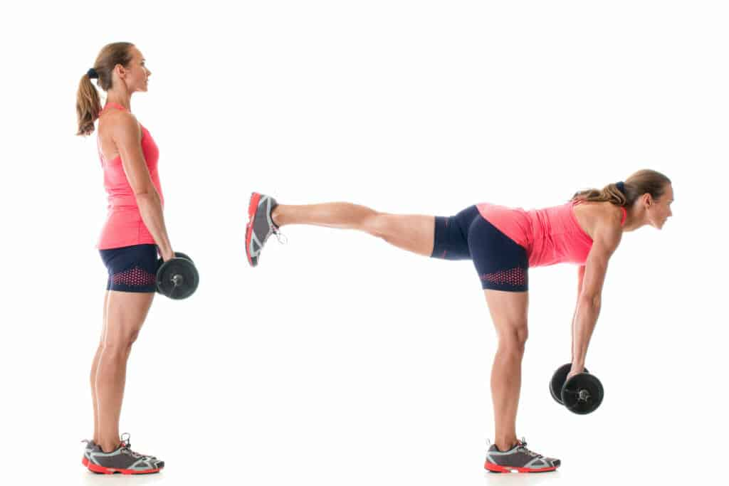 functional exercises:single-leg deadlift