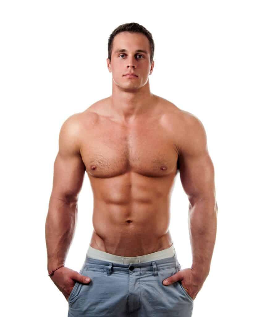 Natural Bodybuilder posing